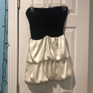 Black & white tube top dress